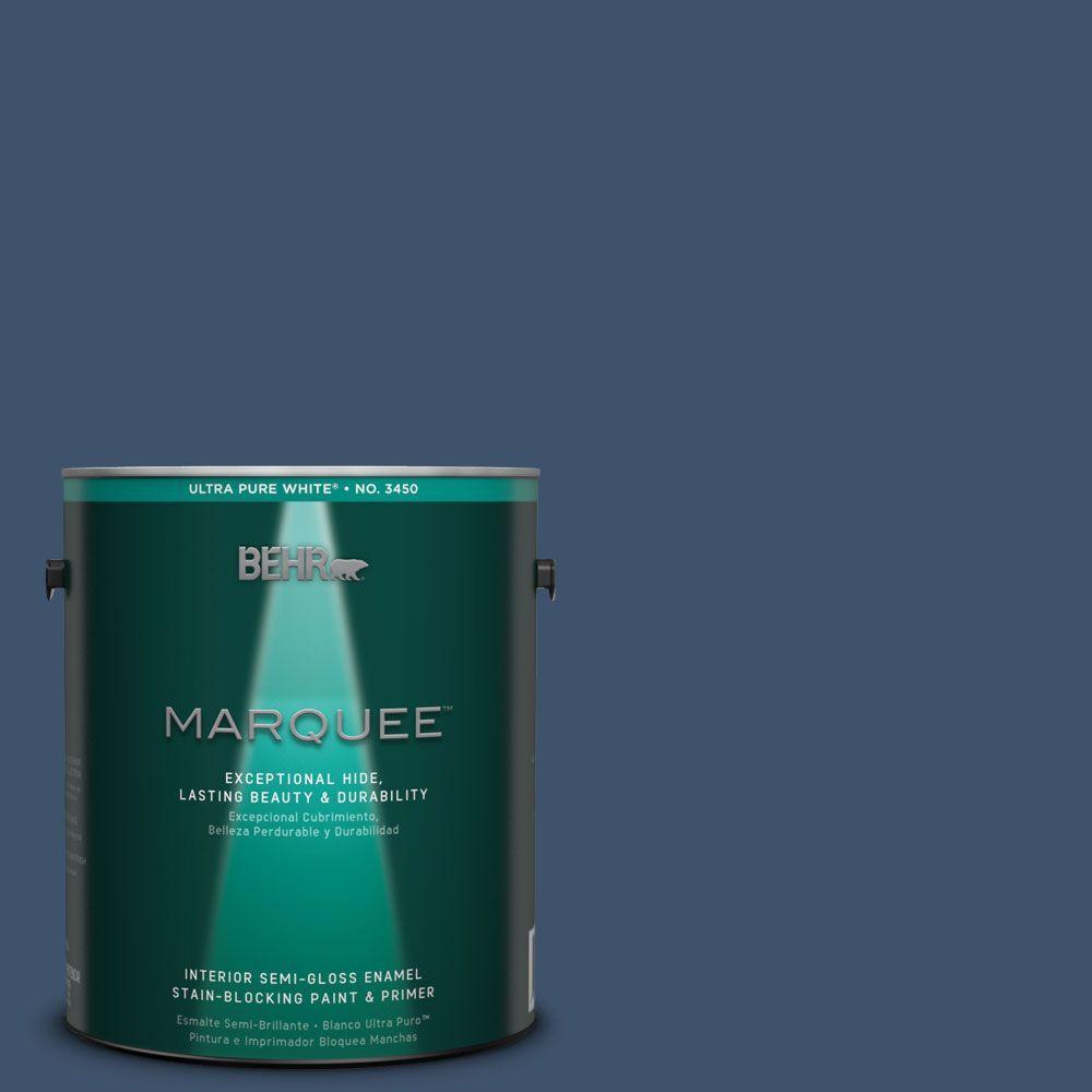 1-gal. #HDC-SM14-7 Midnight Mosaic Semi-Gloss Enamel Interior Paint