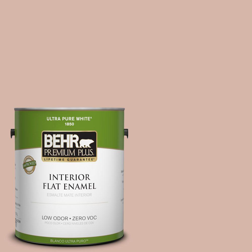 BEHR Premium Plus 1-gal. #230E-3 Canyon Trail Zero VOC Flat Enamel Interior Paint-DISCONTINUED