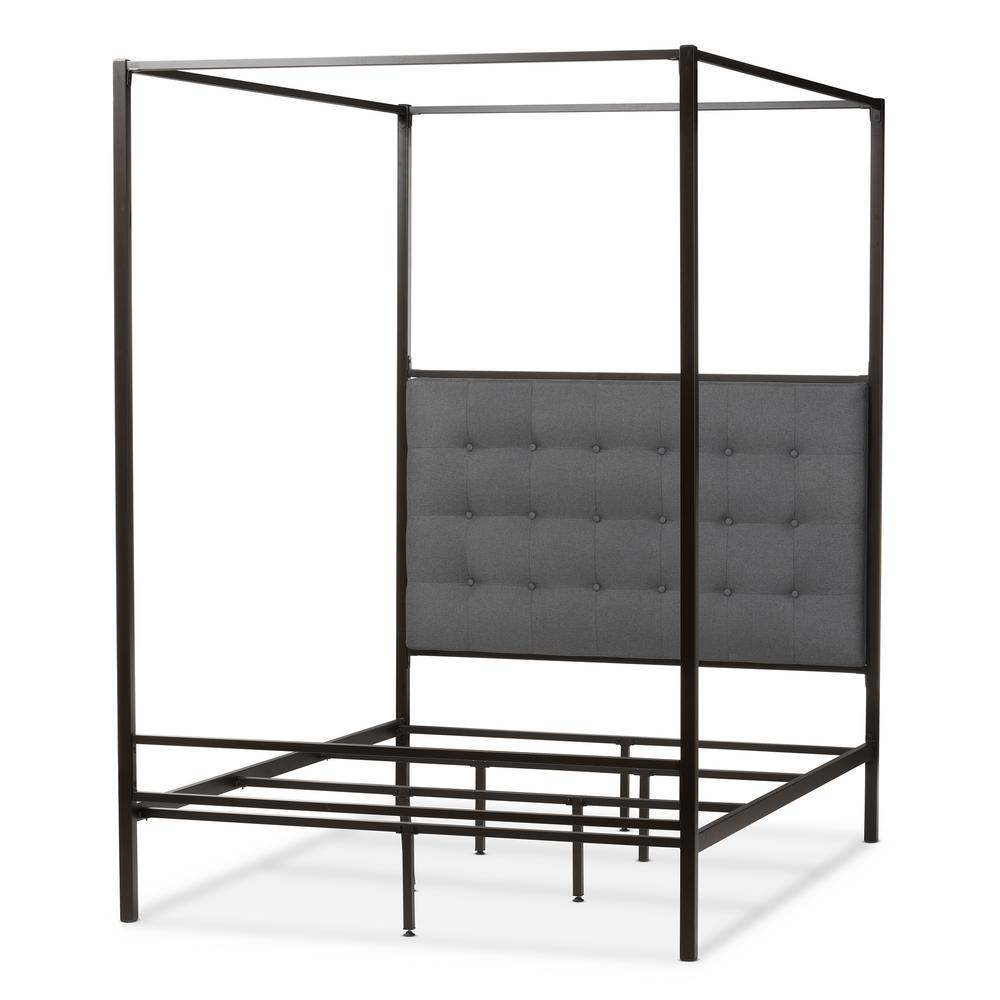 Eleanor Black Metal Queen Platform Bed