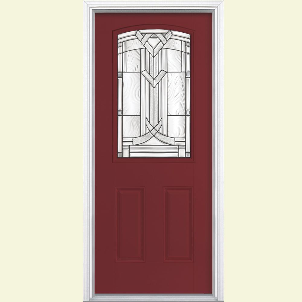 Pacific entries 36 in x 80 in rustic 2 panel square top for Half glass exterior door