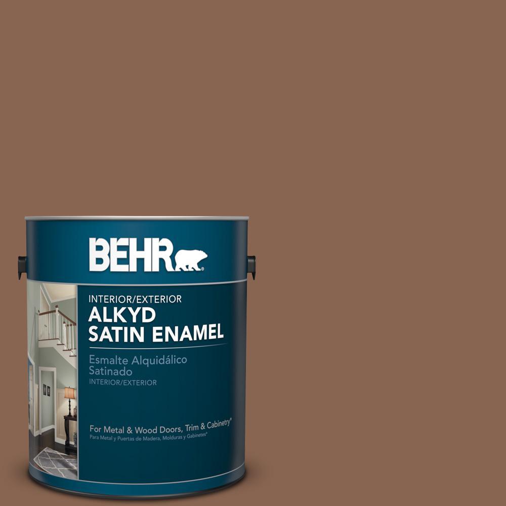 1 gal. #PPU3-17 Clay Pot Satin Enamel Alkyd Interior/Exterior Paint