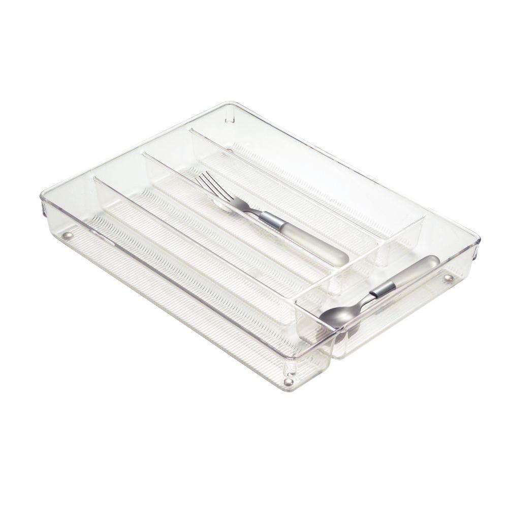 InterDesign Clear Linus Cutlery Tray-53930