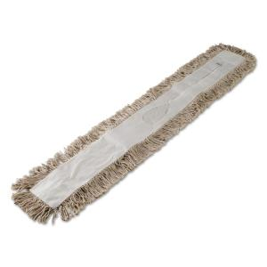 Boardwalk Cotton 48 in  Dust Mop Head in White-BWK1048 - The Home Depot