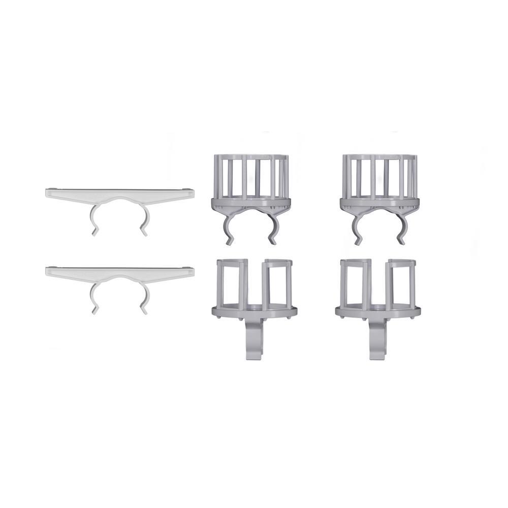 White Plastic Deck Rail 5 Piece Pack