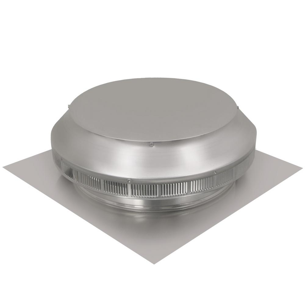 14 in. Dia Aluminum Roof Louver Exhaust Vent in Mill Finish