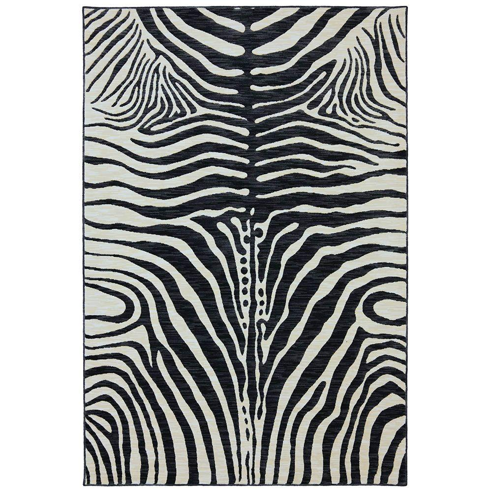Karastan Serengeti Gallery Black 9 ft. 6 in. x 12 ft. 11 in. Area Rug