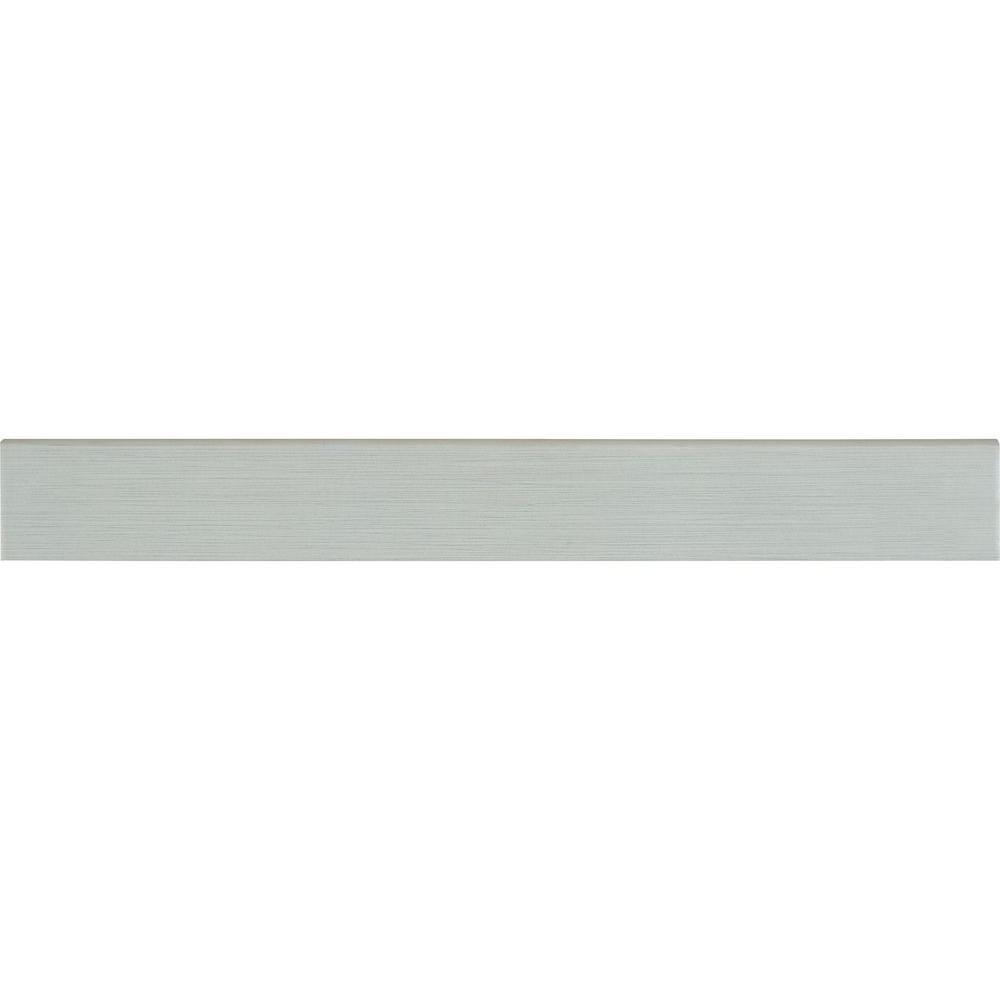 Msi Metro Glacier Bullnose 3 in. x 24 in. Glazed Porcelain Wall Tile (24 lin. ft. / 12 pieces / case), White