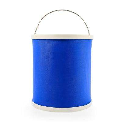 Collapsible Bucket, Blue and White