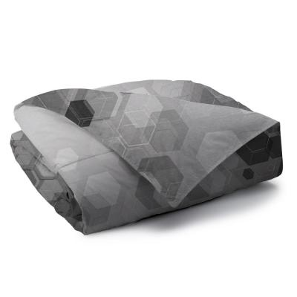 Hexad Reversible Print 100% Organic Cotton Wrinkle Resistant Duvet Set and Insert