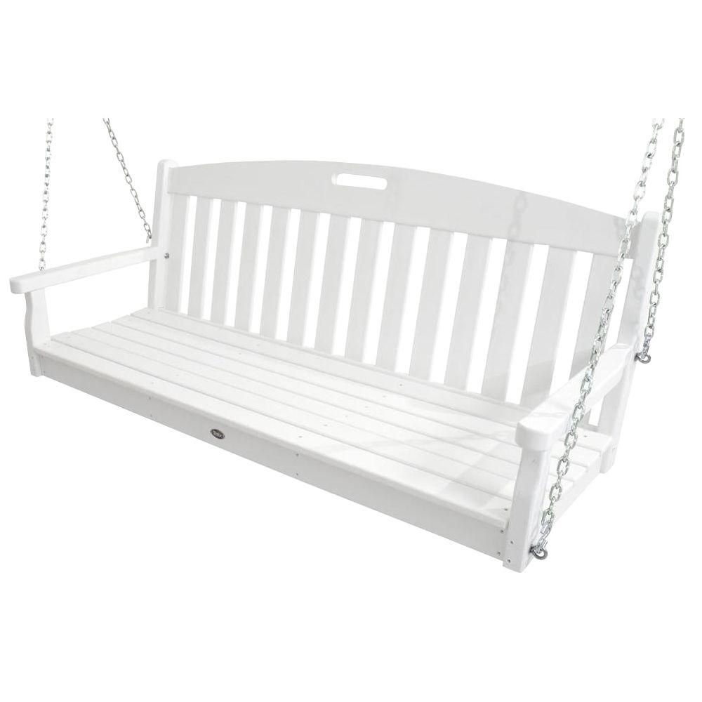 Trex Outdoor Furniture Yacht Club Classic White Patio Swing