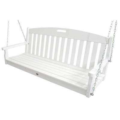 Yacht Club Classic White Patio Swing