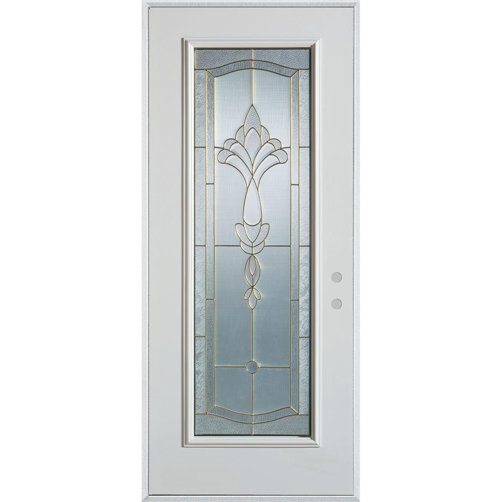 Stanley Doors 32 In X 80 In Traditional Patina Full Lite Painted