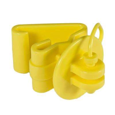 Yellow T-Post Pin Lock Insulator (25-Per Bag)