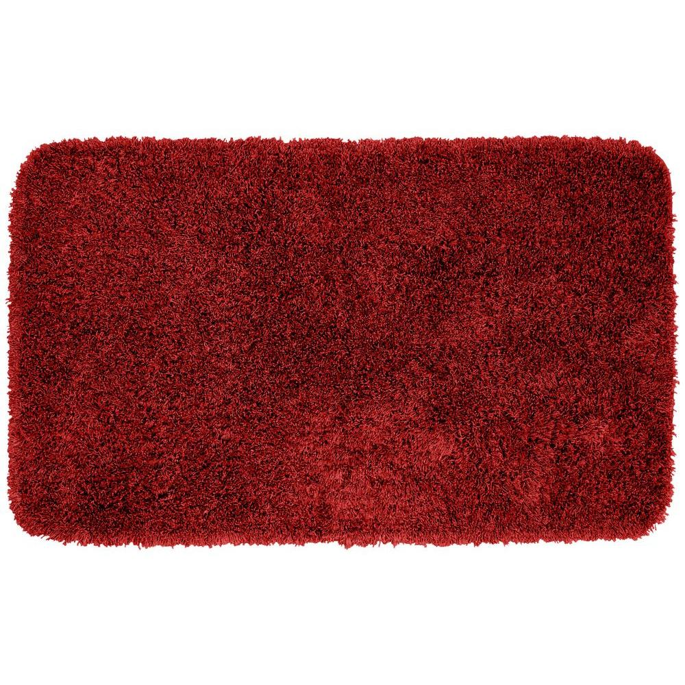 Garland Rug Jazz Chili Pepper Red 30 in. x 50 in. Washable Bathroom Accent Rug