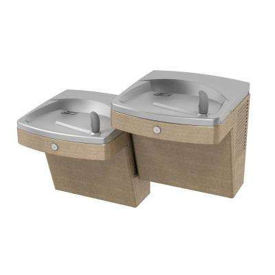 Versacooler II ADACG8ACB High Efficiency ADA Sandstone Finish Bi-Level Drinking Fountain