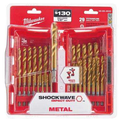 Titanium Shockwave Drill Bit Kit (29-Piece)