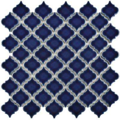 Hudson Tangier Smoky Blue 12-3/8 in. x 12-1/2 in. x 5 mm Porcelain Mosaic Tile