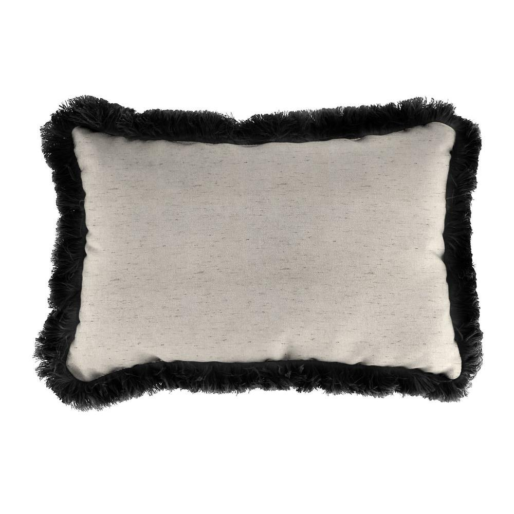 Jordan Manufacturing Sunbrella 9 In. X 22 In. Frequency Parchment Lumbar Outdoor  Pillow With