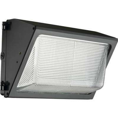 49-Watt Integrated LED Dark Bronze Wall Pack Light 5000K
