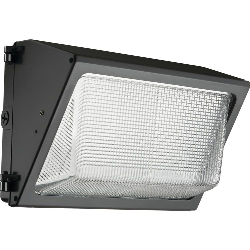Lithonia Lighting 49-Watt Integrated LED Dark Bronze Wall Pack Light 5000K