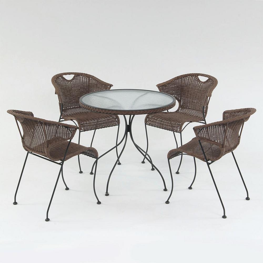 Wadebridge Round Metal Outdoor Dining Table-GF06382USA