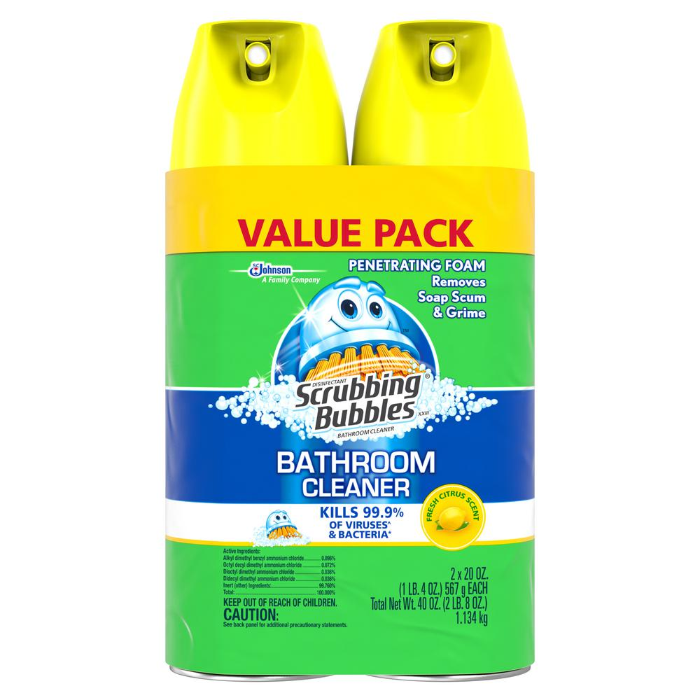 20 oz Fresh Citrus Scent Disinfectant Bathroom Cleaner (Pack of 2)