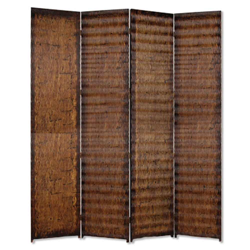 ALBATA 7 ft Brown 4 Panel Room Divider SG 85A The Home Depot