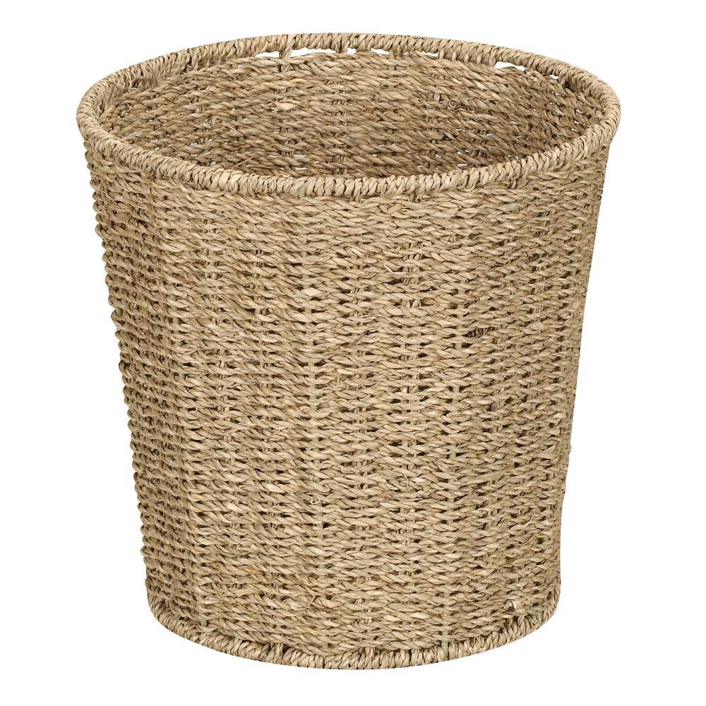 Natural Seagrass Waste Basket