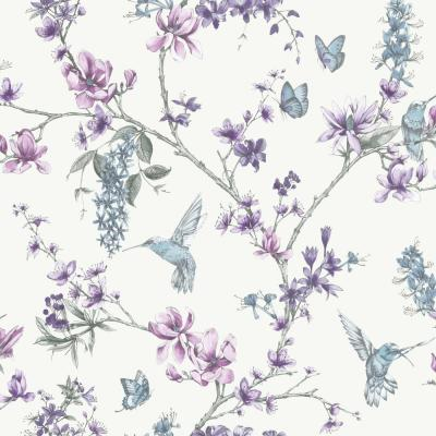 Simplicity Simplicity Pearl/Lilac Removable Wallpaper