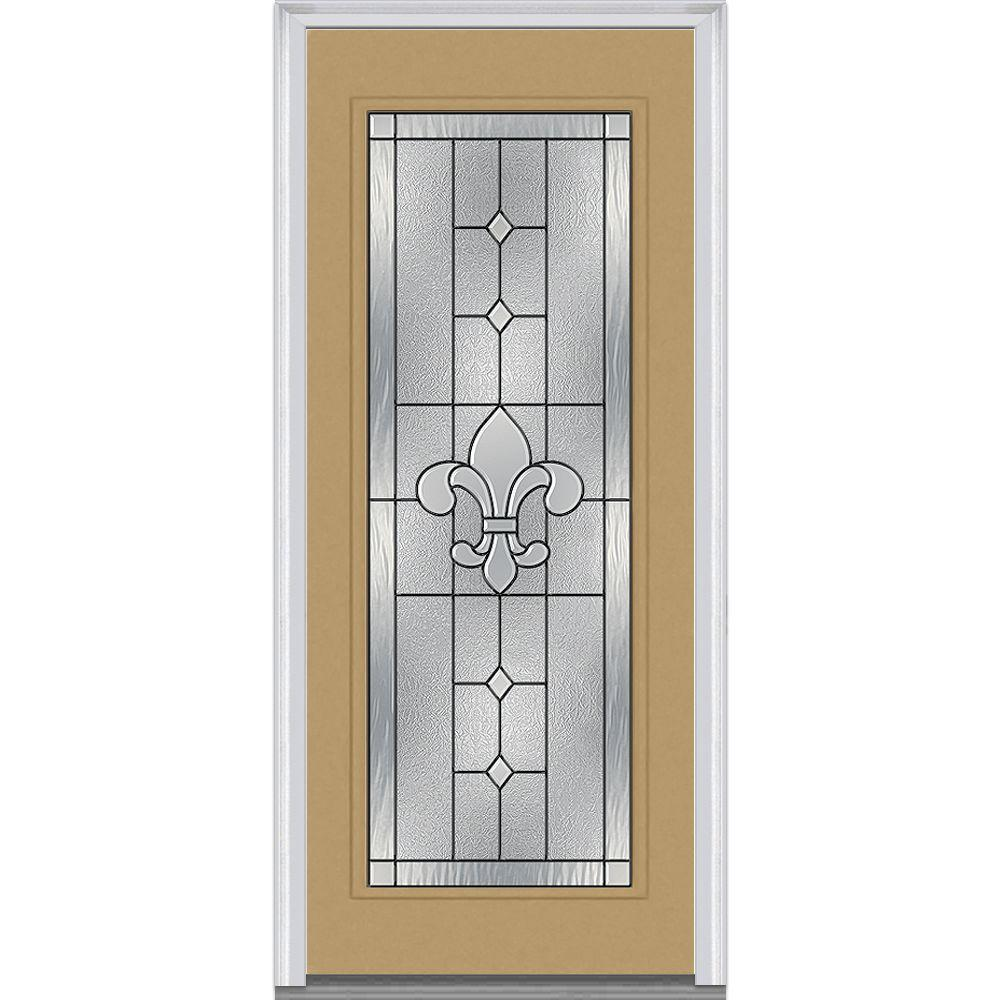 Mmi door 36 in x 80 in carrollton right hand full lite classic painted steel prehung front - Painting a steel exterior door model ...