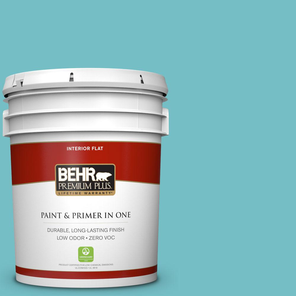 5-gal. #M460-4 Pure Turquoise Flat Interior Paint