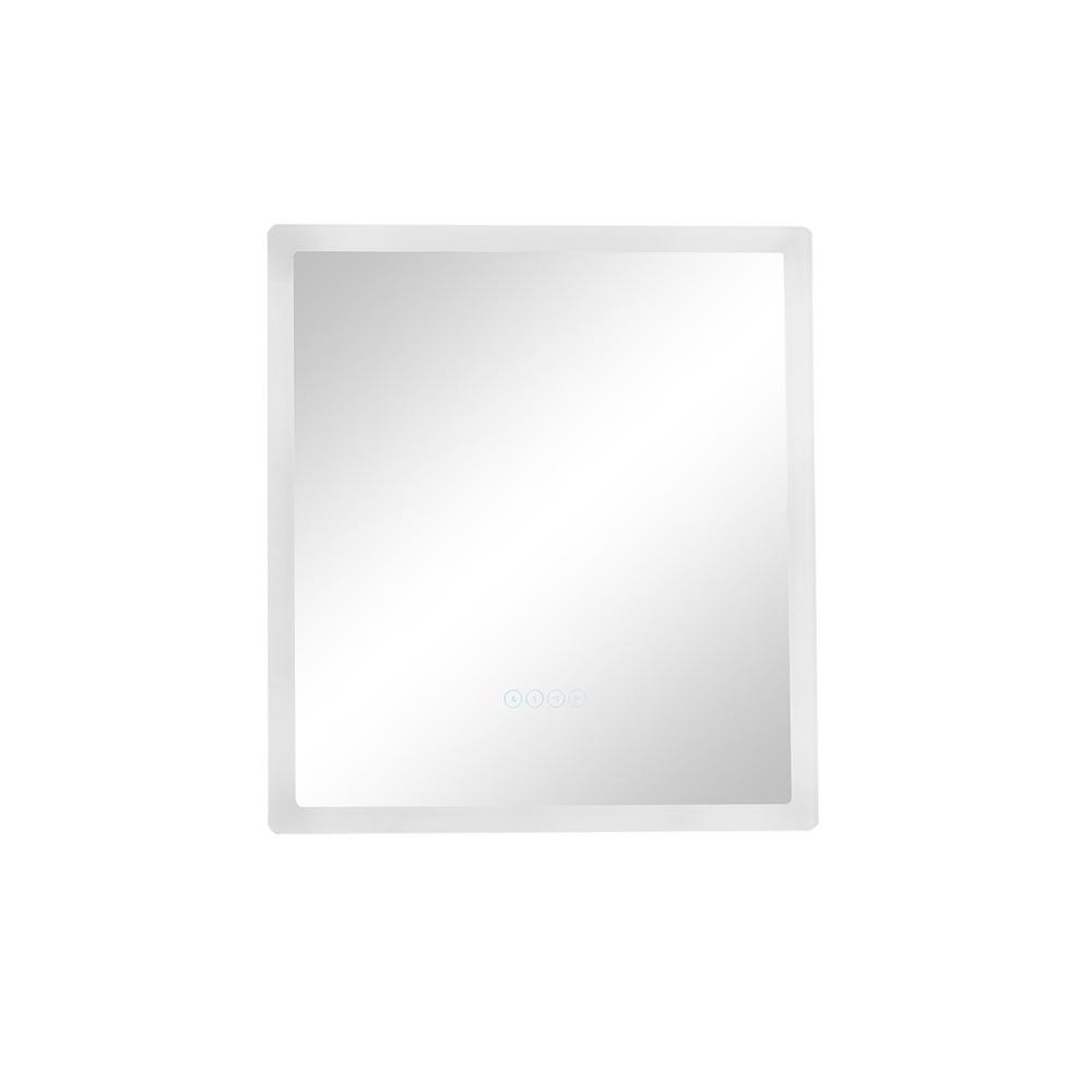 Smart LED 24 in. W x 27 in. H Frameless Single Bathroom Mirror with LED Lighting and Bluetooth Audio Speakers, Fog Free