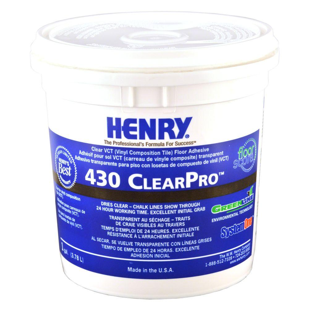 Henry 430 1 Gal. ClearPro VCT Adhesive
