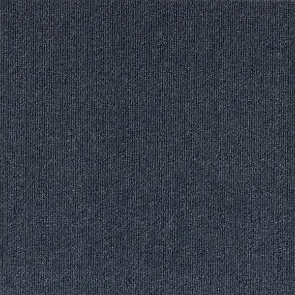 Peel and Stick Inspirations Ocean Blue Ribbed 18 in. x 18 in. Residential Carpet Tile (16 Tiles/Case)
