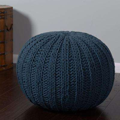 Midnight Blue Accent Pouf