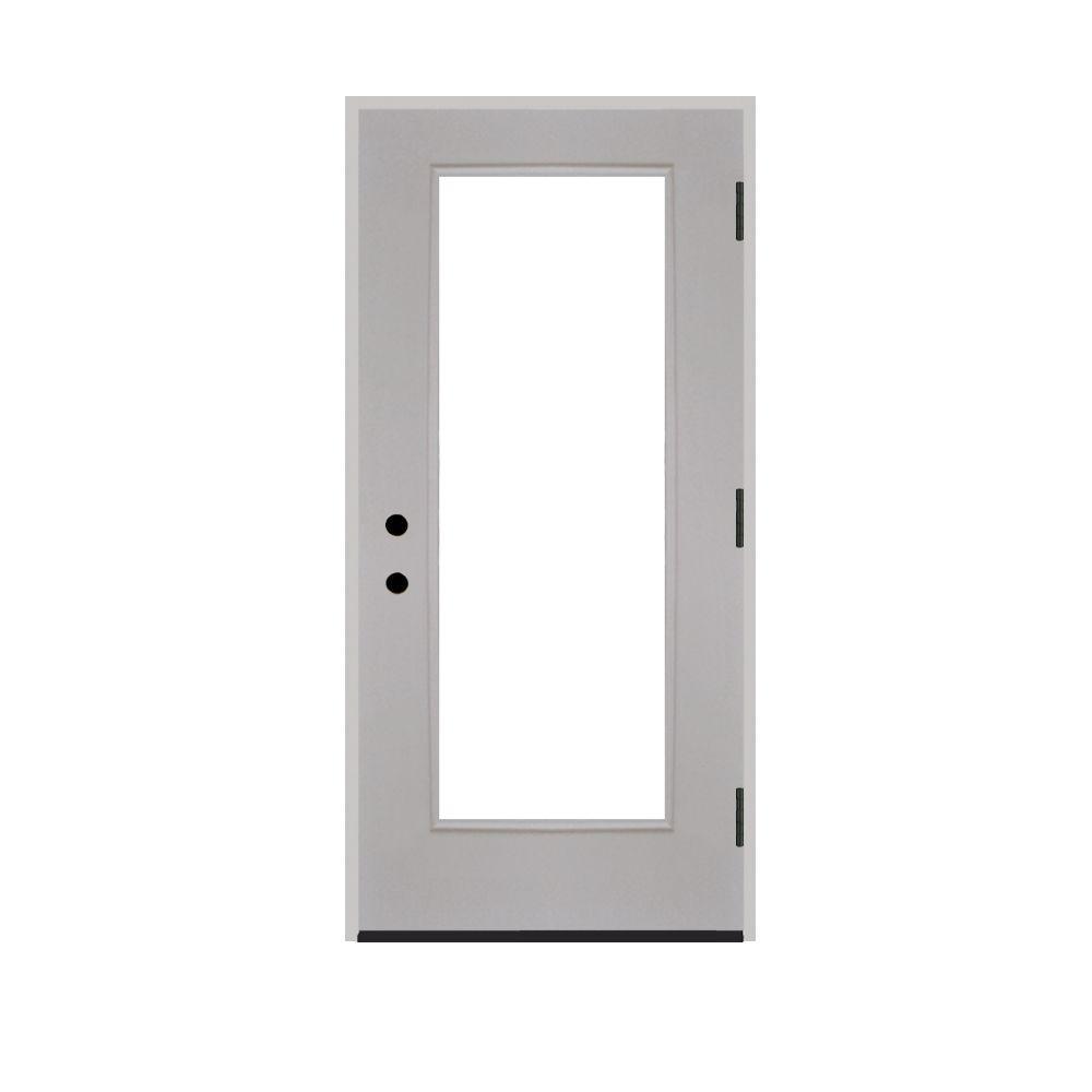 Home Depot Prehung Exterior Door: Steves & Sons 30 In. X 80 In. Premium Full Lite Primed