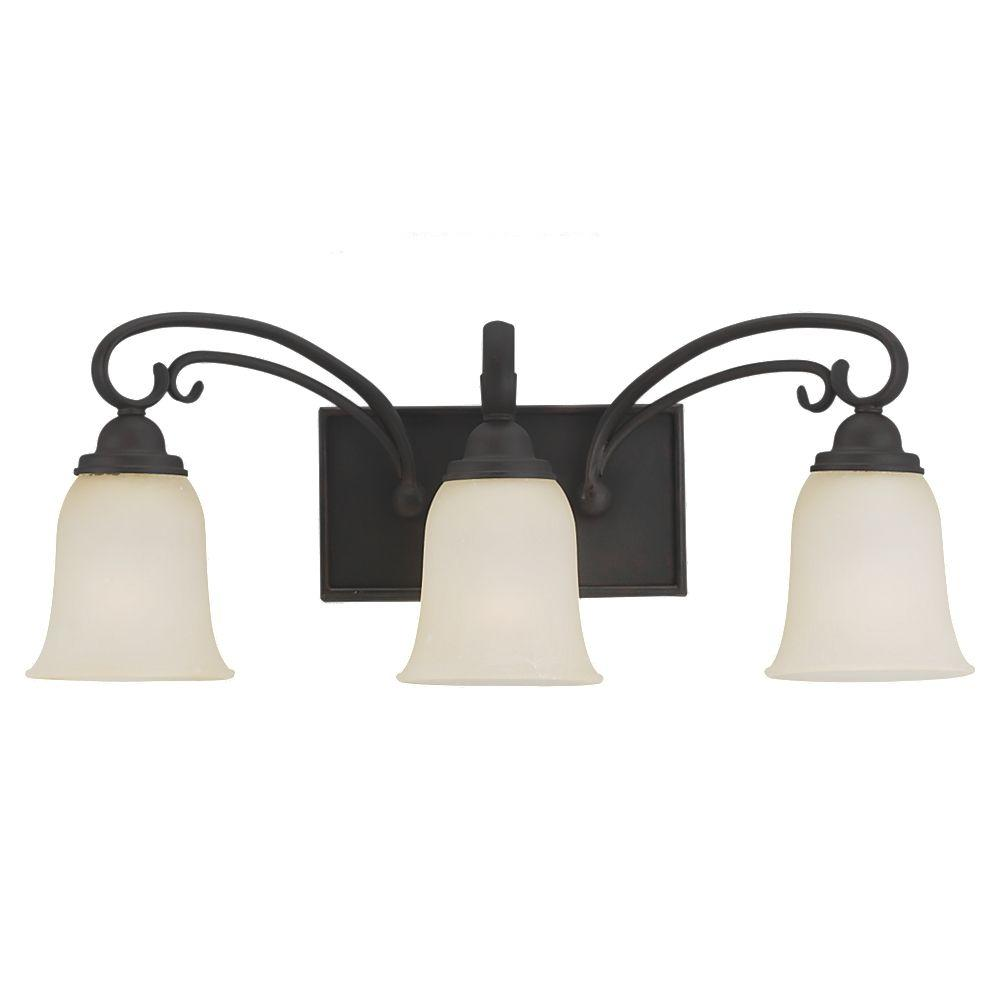 Del Prato 3-Light Chestnut Bronze Vanity Fixture