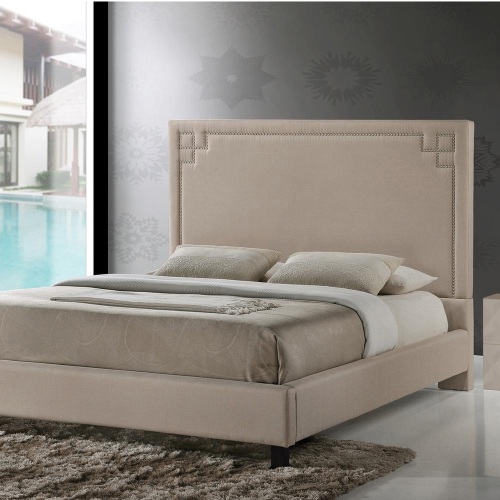 Heidi Beige Full Upholstered Bed