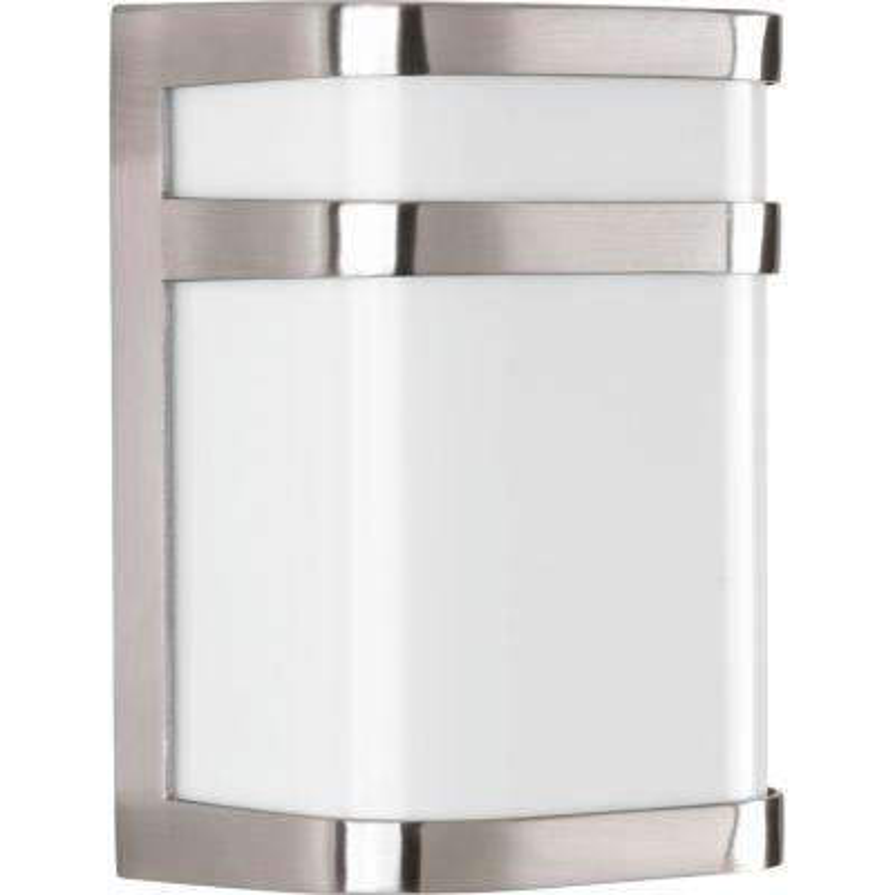 Valera 1-Light Brushed Nickel Linear 8 in. Outdoor Wall Lantern Sconce