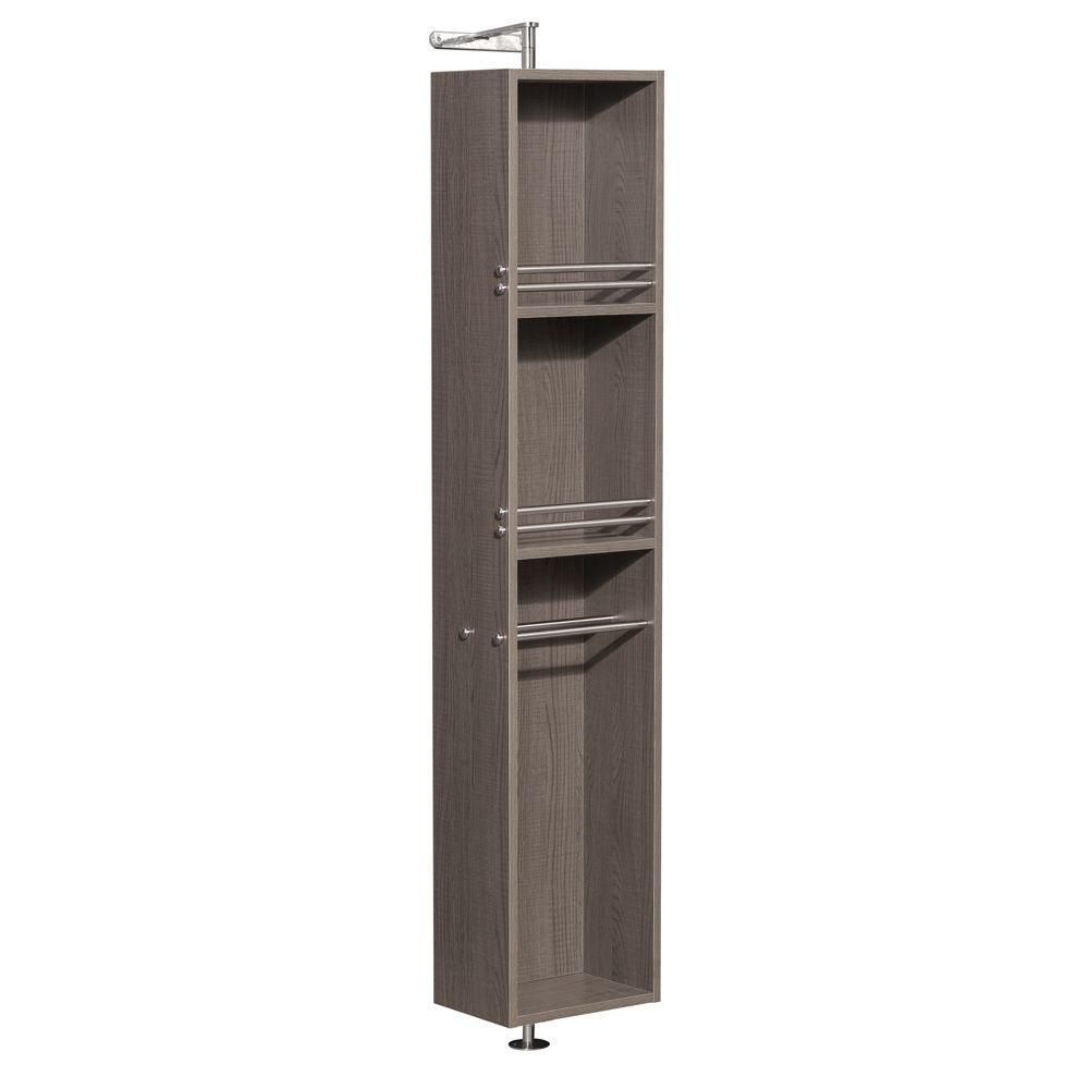 Amare 13-3/4 in. W x 73 in. H x 15 in. D Bathroom Linen Storage Cabinet in Grey Oak