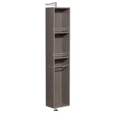 Amare 13-3/4 in. W x 73 in. H x 15 in. D Bathroom Linen Storage Cabinet in Grey Oak
