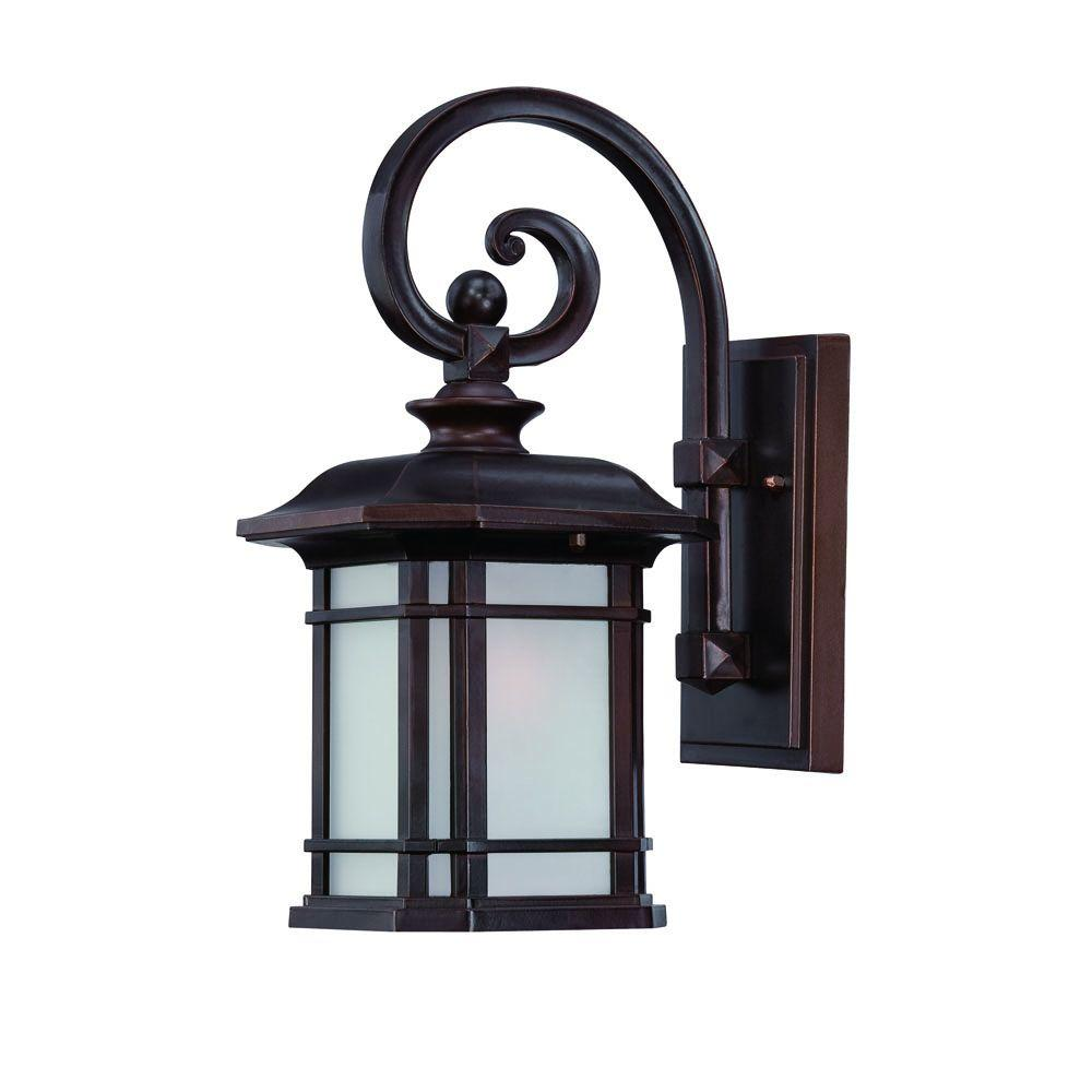 Acclaim Lighting Somerset Collection 1 Light Architectural Bronze Outdoor Wall Mount Light