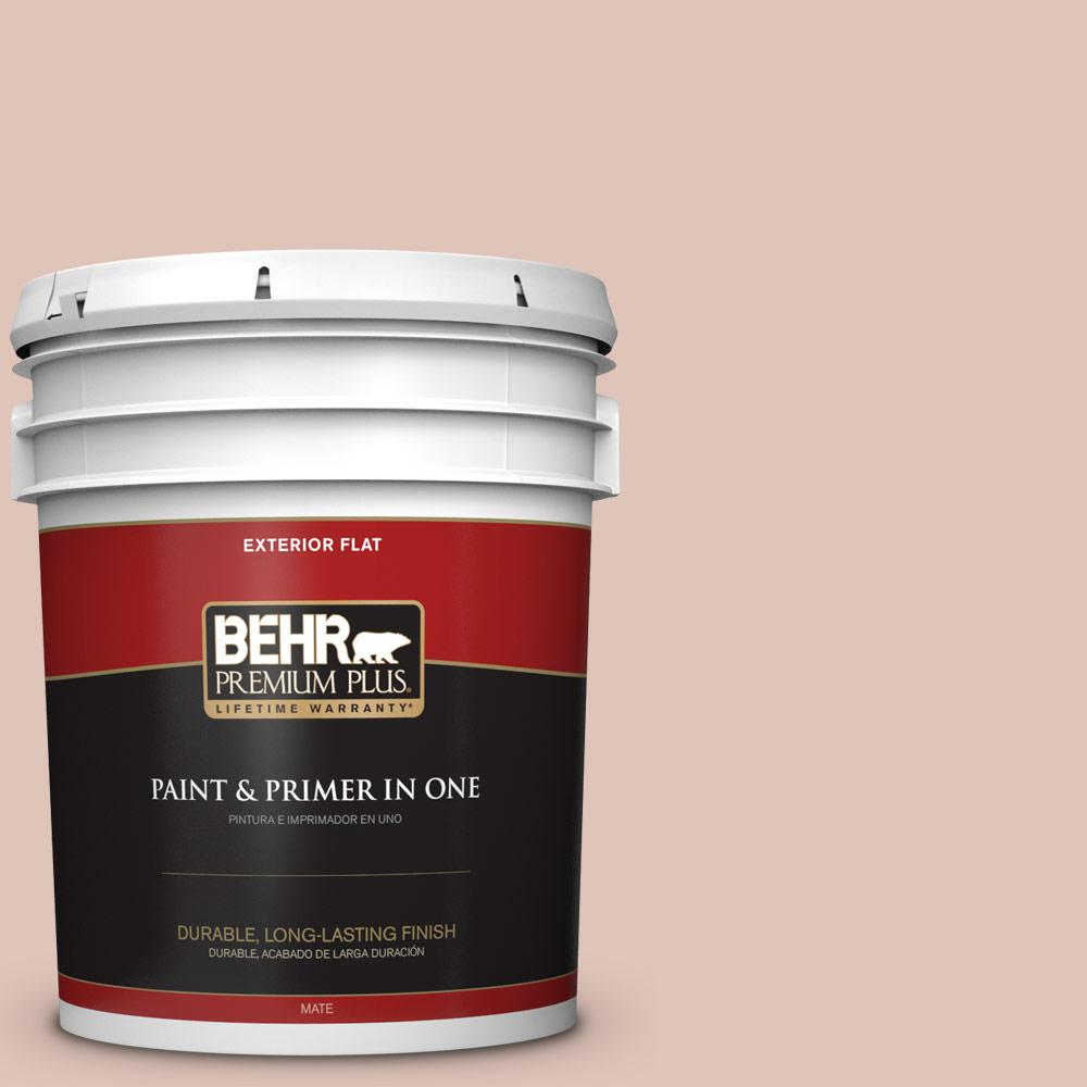 5 gal. #PPU2-07 Coral Stone Flat Exterior Paint