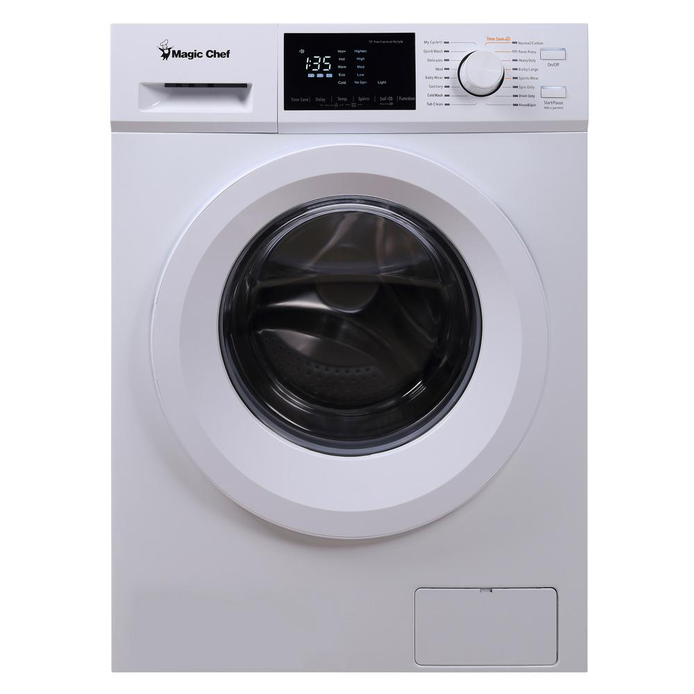 Magic Chef 24 in. 2.7 cu. ft. Front Load Compact Washer in White