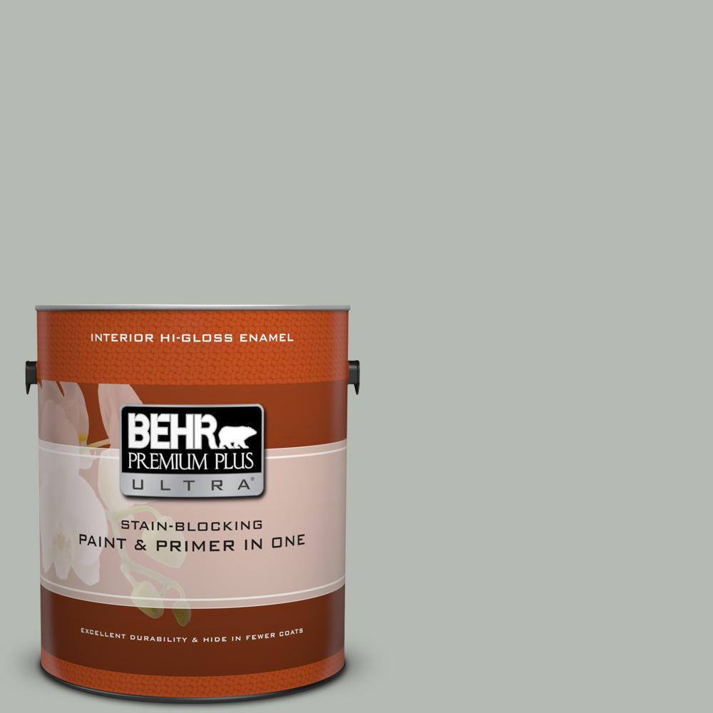 1 gal. #HDC-AC-21 Keystone Gray Hi-Gloss Enamel Interior Paint