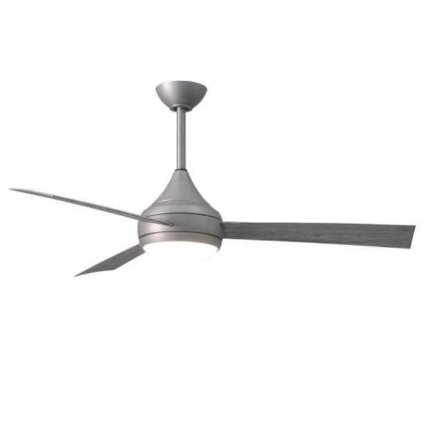 Donaire 52 in. Integrated LED Indoor/Outdoor Brushed Stainless Ceiling Fan with Light with Remote Control