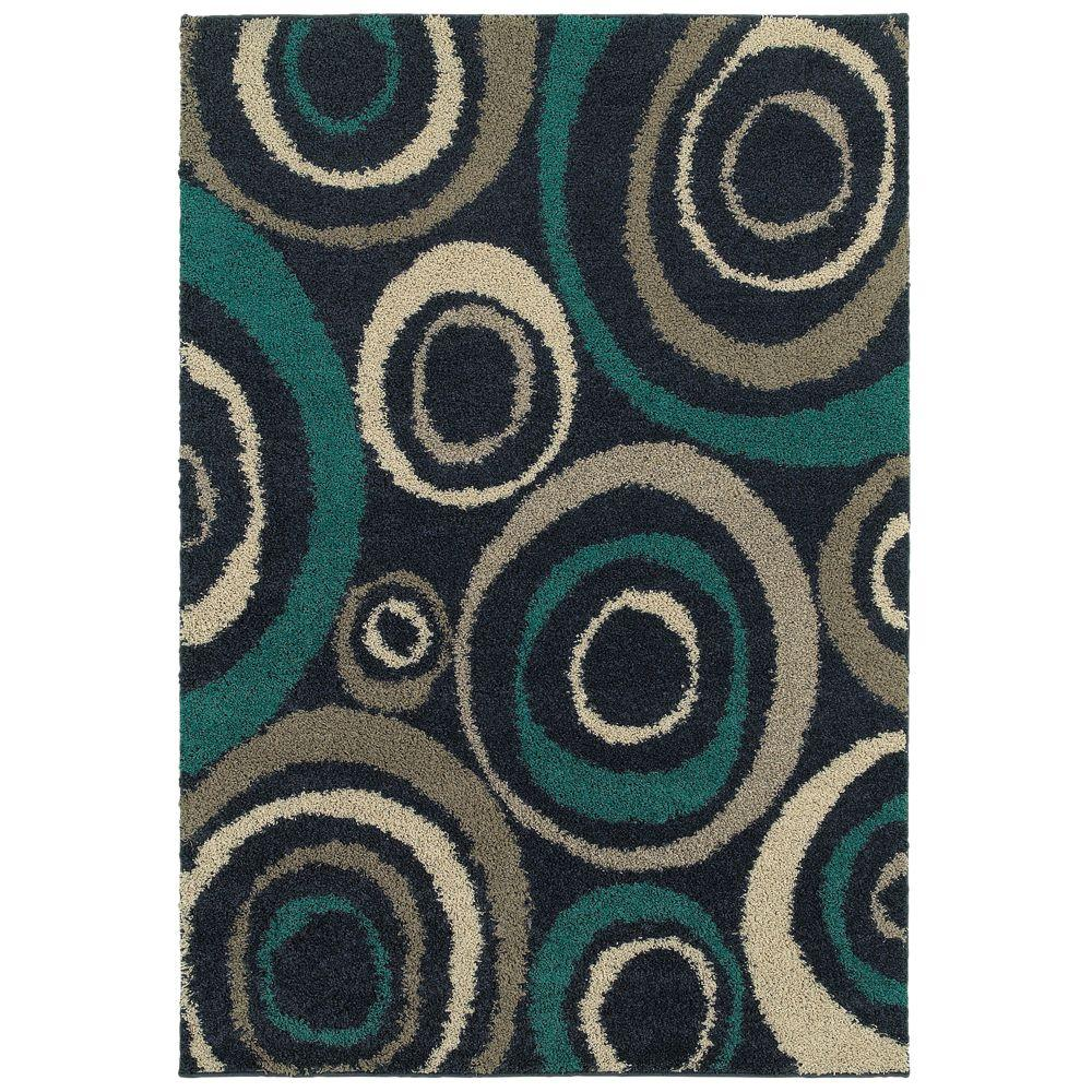 Home Decorators Collection Orbit Teal 8 Ft. X 10 Ft. Area