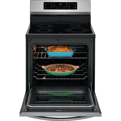 30 in. 5.4 cu. ft. Induction Electric Range with Self-Cleaning Oven in Smudge-Proof Stainless Steel with Air Fry