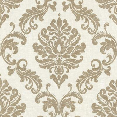 Sebastion Gold Damask Paper Strippable Roll Wallpaper (Covers 56 sq. ft.)