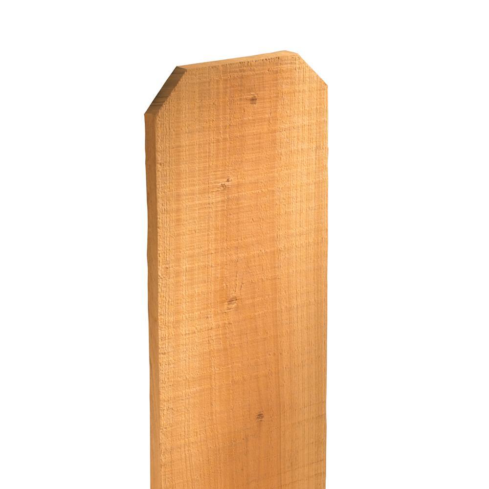 1 in. x 6 in. x 6 ft. Cedar Dog-Ear Fence Picket